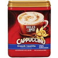 Hills Brothers Cappuccino Coffee French Vanilla 12 oz