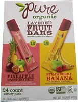 Pure Organic Layered Fruit Bars 24 Pk