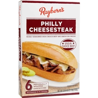 Raybern's Philly Cheesesteak Sandwich, 5.6 oz, 6 ct
