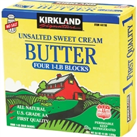 Kirkland Unsalted Butter Solids, 1 lb, 4 ct