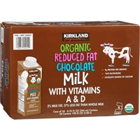 Kirkland Organic 2% Reduced Fat Milk, Chocolate, 8.25 oz, 24 ct