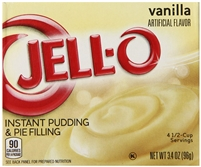 JELL-O Instant Vanilla Pudding & Pie Filling Mix (3.4 oz Box)