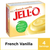 Jell-O French Vanilla Instant Pudding Mix, 3.4 oz Box