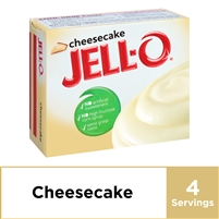 Jell-O Cheesecake Instant Pudding Mix, 3.4 oz Box