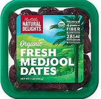 Natural Delights Organic Fresh Medjool Dates 2 lbs