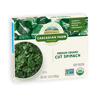 Cascadian Farms: Cut Spinach, 1Ooz  LIMITED AMOUNT