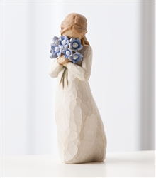 Demdaco Willow Tree Figurine - Forget-Me-Not