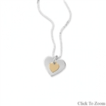 DOUBLE HEART TWO-TONE NECKLACE