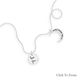 "S.S. CHARM NECKLACE ""LOVE YOU TO THE MOON & BACK"""
