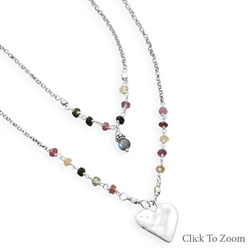 BAILA LUNA HEART NECKLACE & EARRING SET