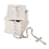 DEMDACO TRINKET BOX & ROSARY BEADS