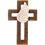 ANGEL WING WALL CROSS