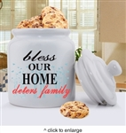 CERAMIC PERSONALIZED FAMILY COOKIE JARS