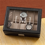 MEN'S PERSONALIZED LEATHER WATCH CASE