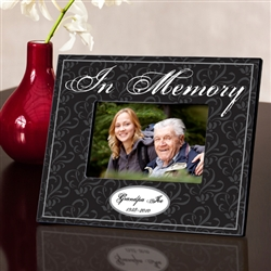 "PERSONALIZED ""IN MEMORY"" PICTURE FRAME"