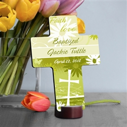 PERSONALIZED BAPTISMAL CROSS