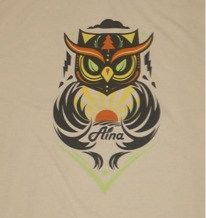 Aina Clothing Owl T-shirt, organic cotton