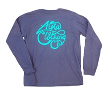 Aina Clothing black organic cotton logo long sleeve t-shirt.
