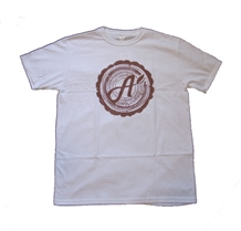 Aina Clothing white organic cotton cross cut t-shirt.