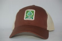 Aina Clothing Leaf patch organic cotton trucker hat.