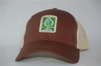 Aina Clothing Leaf patch organic cotton trucker hat