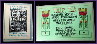 A Pair of Event Advertising Posters by Anna Louise Falk. .Connecticut.c1925