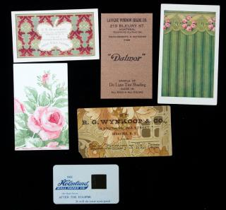 A Grouping of Six (6) Advertising Trade Cards Made of and/or Relating to Wall Paper or Window Shades. ..c. 1932