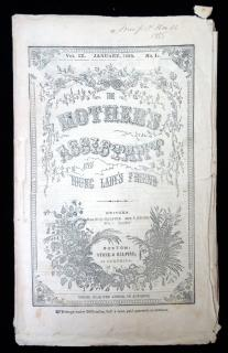 The Mother's Assistant and the Young Ladies Friend, January 1855, Vol. IX No. 1. Stone & Halpine..1855