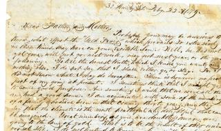A group of 10 letters from a son to his mother over 14 years - . Joel Horton Ross.New York City.1842-1856