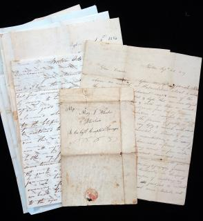 9 Letters Between Sisters and Cousins, Wheelers and Spragues, Massachusetts 1819-1852
