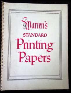 Warren's Standard Painting Papers for Halftone Reproduction by Letterpress .  . S.D. Warren Company . Boston, Mass. . September, 1954