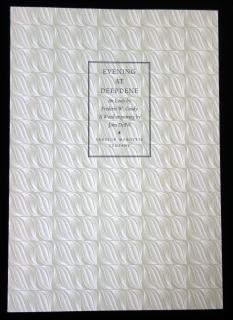 Evening at Deepdene, An Essay by Fredric W. Goudy & Wood Engraving by John De Pol . Frederic W. Goudy . Lanston Monotype Company .  . c1938