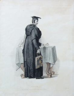 """Proctor"" Engraving from the History of the University of Cambridge"