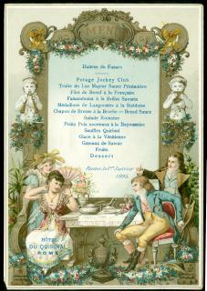 Lovely Chromolithograph Menu Hotel du Quirinal