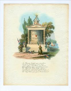 Fine Quarto Hand Colored Lithograph Hymen's Temple Reveals Secret Desire - Wedding Proposal 1840s