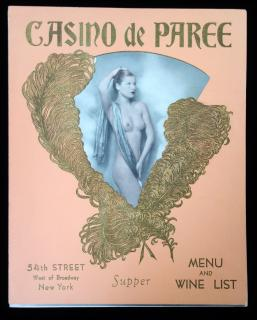 Casino de Paree Menu and Wine List, . ..