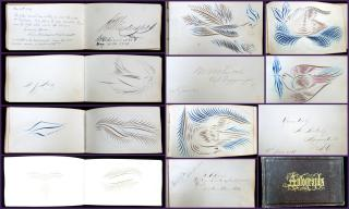 Autograph Album from 1866, Eastern United States. ..