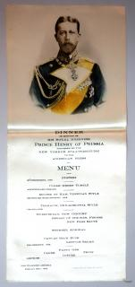 Silk Menu - Dinner in honour of HRH Prince Henry of Prussia Tendered by the New Yorker Staats-Zeitung to the American Press, Feb. 26, 1902 + Programme