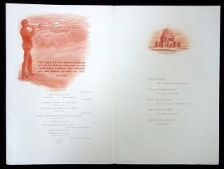 Menu-Palmer House, Chicago, 25th Annual Reunion of the Society of the Army of the Tennessee, 1893. ..