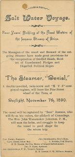 Tongue in Cheek Menu - Grand Salt Water Voyage. .Philadelphia.Nov. 7, 1890