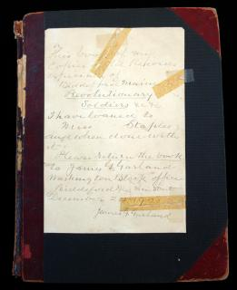 "An album titled "" A Book of my copies of Old Records especially of Biddeford Maine - Revolutionary Soldiers etc., etc."" ."