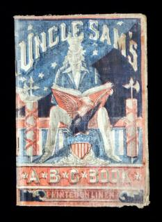Uncle Sam's ABC Book, Printed in Linen, 1897. W.B. Conkey Company.Chicago ; New York.1897