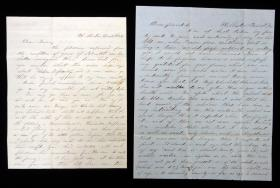 Letters of Mary Adeline in Holliston to Lovina Emerson, 1848-1849. ..1848-1849