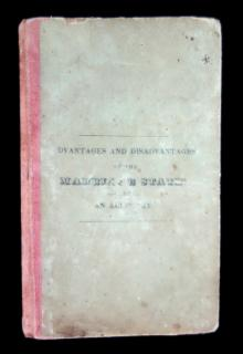 The Advantages and Disadvantages of the Marriage State: An Allegory.   G. & C. Merriam Springfield 1832