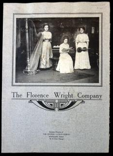 Promotional Brochure - The Florence Wright Company with Images from Photographs.  c1912