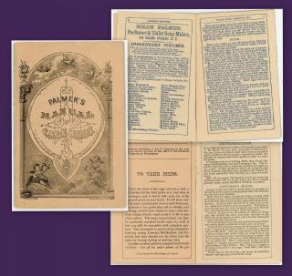 Palmer's Manual of Cage Birds Presented by Solon Palmers Perfumer & Toilet Soap Makers. Solon.New York.1879