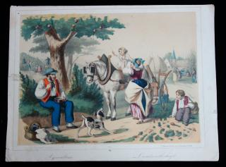 Fr. Wentzel A Wissemburg . Agriculture: A Lithograph by Fr. Wentzel A Wissemburg. . Paris. 1840s