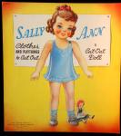 Sally Ann clothes and playthings to cut out: A cut-out doll.
