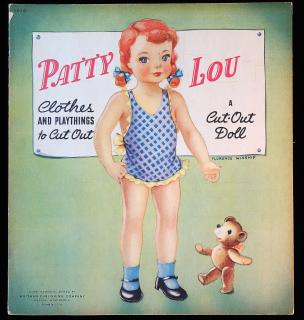 Patty Lou clothes and playthings to cut out: A Cut-Out Doll. slight wear on cover