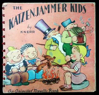 Knerr. The Katzenjammer Kids, an animated novelty book. John Martin's House, Inc. Kenosha, Wisconsin 1945